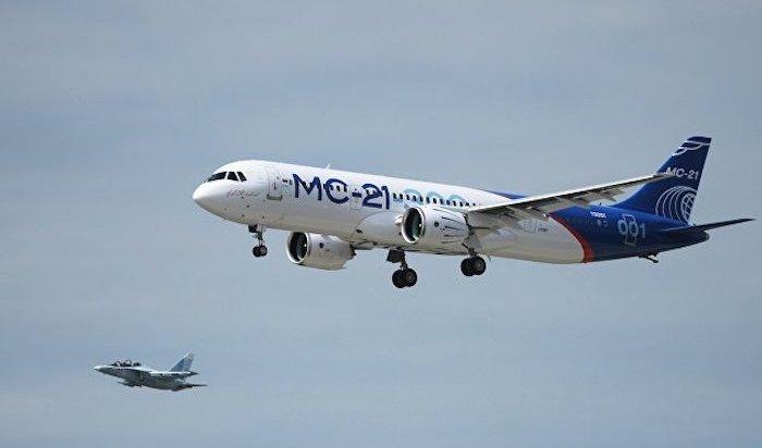 Самолет МС-21 с российскими двигателями ПД-14 совершил первый полет в Иркутске