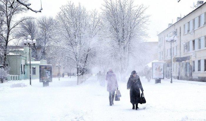 Усиление ветра и метели прогнозируют метеорологи в  Иркутской области