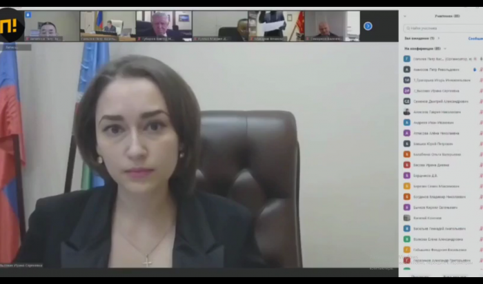 Якутский депутат на рабочем заседании отчитал министра за открытую грудь (Видео)