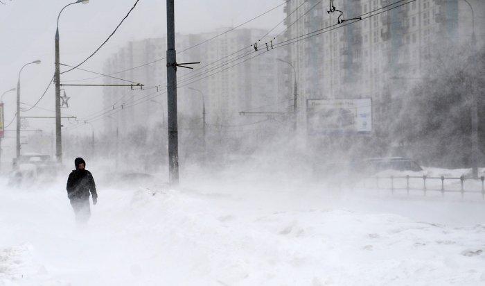 Штормовое предупреждение объявлено в Иркутской области 3 и 4 января