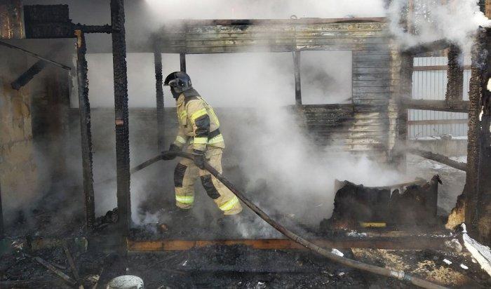 Два человека погибли напожарах запрошедшие сутки вИркутской области
