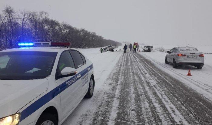 Четыре человека погибли вДТП вИркутской области за29января