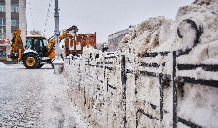 4 600тонн снега вывезено засутки вИркутске 6 февраля