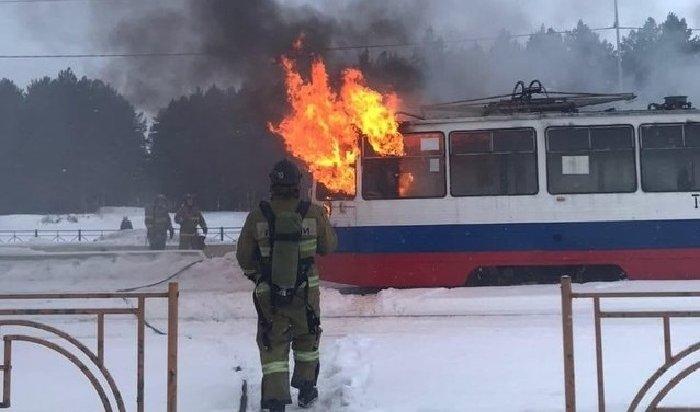 ВАнгарске загорелся трамвай