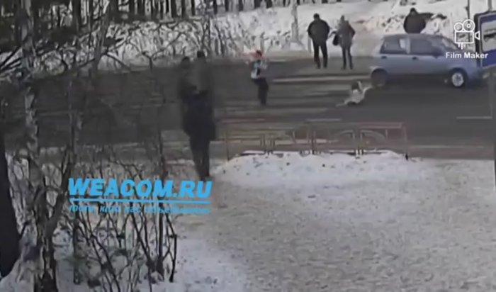 Водитель сбил собаку напешеходном переходе вИркутске искрылся (Видео)