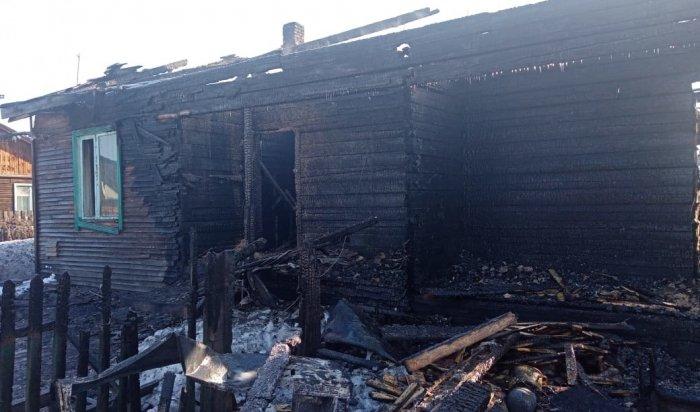 Два ребенка погибли напожаре вКазачинско-Ленском районе