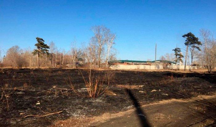 Причиной пожара на пустыре в Ангарске стала игра детей со спичками