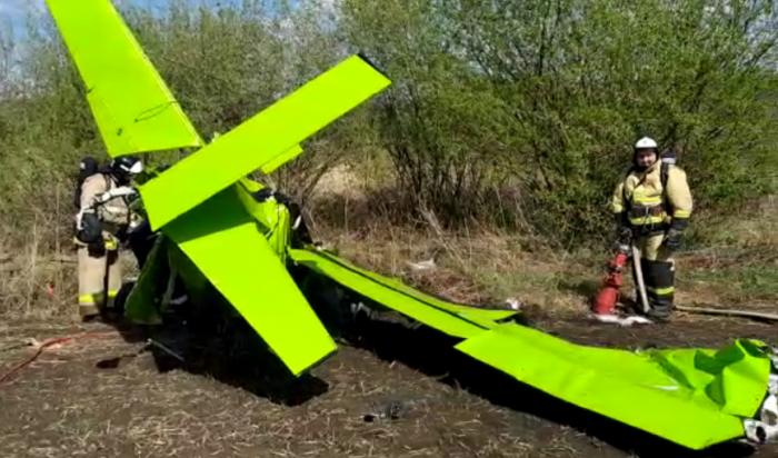 ВТатарстане мужчина сподругой угнали легкомоторный самолет иразбились насмерть