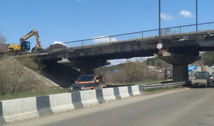 Движение под путепроводом на Качугском тракте ограничат с 19 мая