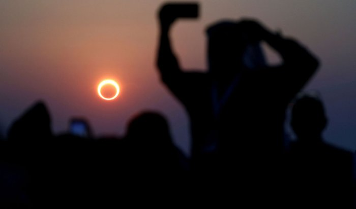 10июня иркутяне смогут наблюдать кольцеобразное солнечное затмение