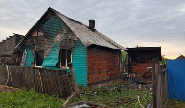 Установлена причина пожара вТайшете, в котором погибли двое детей иотец