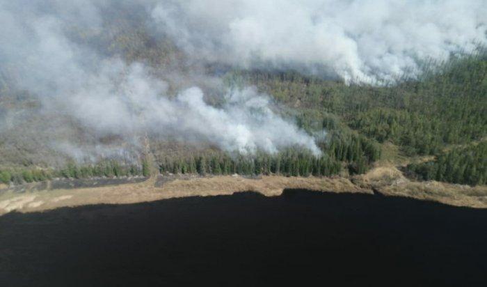 Два крупных лесных пожара потушили в Приангарье за сутки