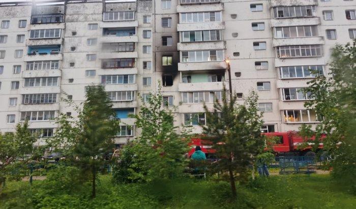Мужчина был спасен огнеборцами напожаре вИркутске утром
