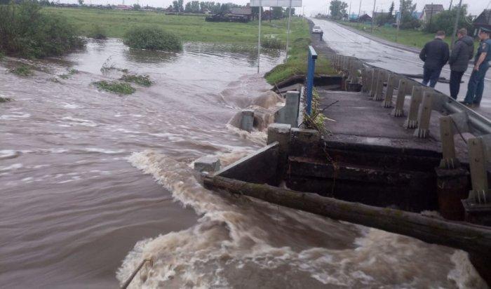 ВТулунском районе нафедеральной трассе А-331 «Вилюй» введено ограничение для большегрузного транспорта из-за подмыва моста