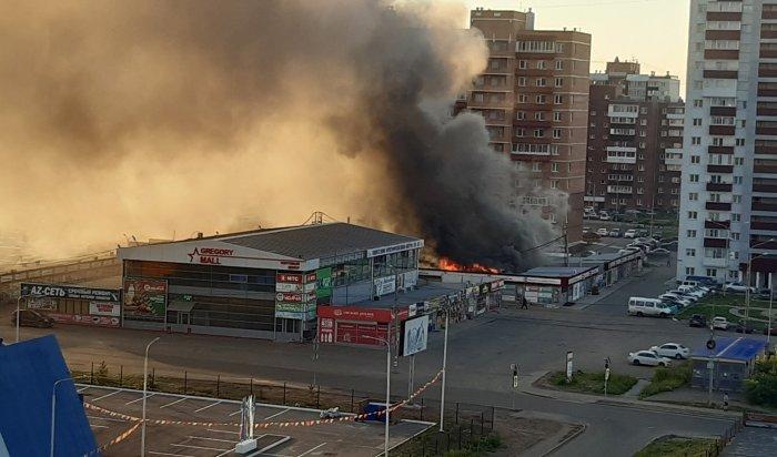 В Ново-Ленино сгорела автомойка (Видео)