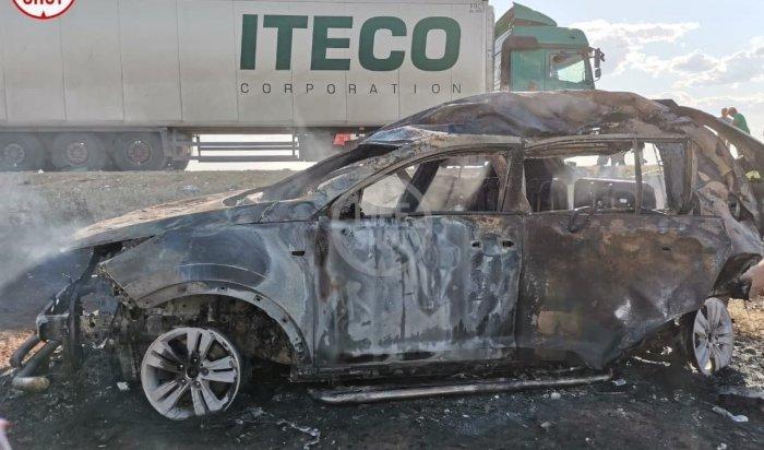 Четыре человека заживо сгорели вДТП под Астраханью