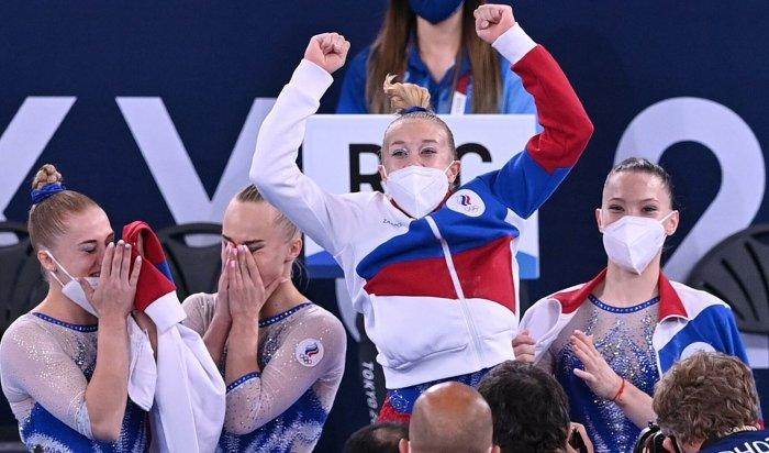 Российские гимнастки впервые завоевали «золото» Олимпийских игр вкомандном многоборье