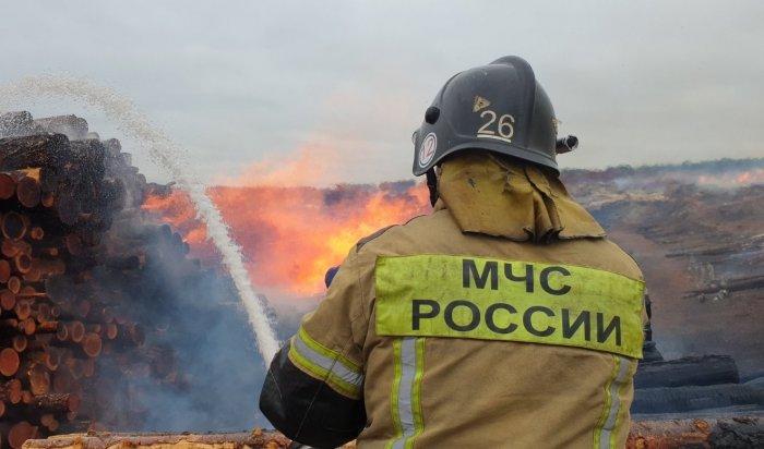 ВБратском районе локализован крупный пожар (Видео)