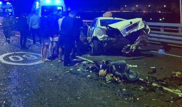 Телеведущая Ксения Собчак попала в аварию в Сочи