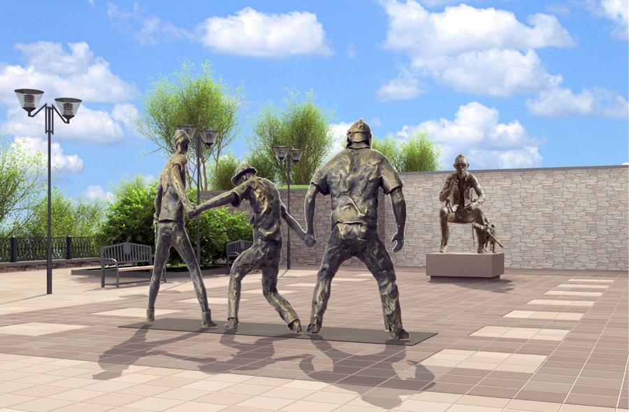 Памятник леониду гайдаю и его героям фото